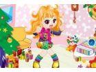Die schöne Puppe ist wirklich sehr glücklich, weil Weihnachten bald kommt. Si