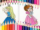 Schönes Prinzessin Malbuch ist ein lustiges Online Malspiel für Kinde