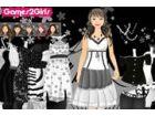 Wählen Sie ein nettes Paar Kleid für schöne Leena schwarz und weiß.