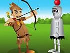 Pfeil und Bogen Bogenschießen Spiel, schießen Äpfel des Kopfes