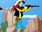 Helfen Lucky Luck mit fangen die Dalton, versuchen, gut zu schießen, weil Sie