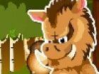 Hilf dem kleinen Wildschwein genug Eicheln zu packen, um ihn durch den Winter z