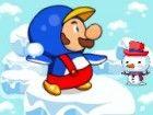 Mario ist mit Schneemann spielen auf dem Feld, sondern Monster auftauchen und a