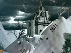 Sie sind verloren und allein irgendwo im verschneiten mittelalterlichen Land. V
