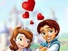 Helfen, das süße paar in dieser Sofia und der Prinz Spiel zu küssen, weil si