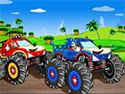 Sonic Truck Krieg ist ein Rennspiel. Sonic und Knuckles treten im Truck-Rennen