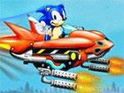 Sonic hat sich in den Himmel erhoben, um eine Armada von Dr. Robotniks besten D