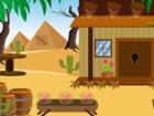 Es gab ein paar Häuser in einem wunderschönen Wüstenwalddorf. In