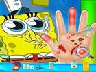 SpongeBob Holen Sie sich Schmerzen zur Hand und brauchen Sie einen Arzt, weil S