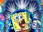 Spielen Sie SpongeMania und rennen Sie, springen Sie und sammeln Sie einige Sup