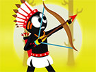 Spielen Sie Stickman Destruction Warrior online! Werden Sie mit Arrow and Bow z