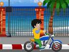 Dieser Biker ist in einer Strandstraße gefangen. Du musst ihm helfen, von