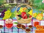 Decor Ihr Picknick-Tisch für den Sommer mit großen Lebensmittel und viele Din
