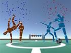 Super Foosball ist ein Arcade-inspiriertes Kickerspiel. Der erste Spieler, der