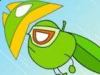 Green Super Appleman ist Können am Himmel Schlacht, deren Schild wird automati