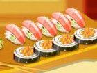 In Sushi Kochschule sie wird ein neues Gericht vorzubereiten. Es ist ein sehr l