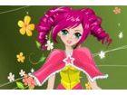 Das niedliche Mädchen als Zeichen Anime-Stil. ...
