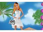 Dieses süße hispanischen Mädchen liebt es, ihren Urlaub an den schönen Str�