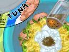 Tuna ist der Fisch des Meeres. Machen Sie sich einen leckeren Thunfisch Wrap mi