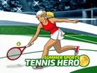 Wähle deinen Helden und tritt im Tennis-Event gegen 3 Gegner an. Tippen Si