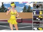 Larissa liebt Tennis. Sie verbringt viel Zeit zu spielen und will gut aussehen.