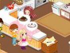 Tessa hat eine schöne Küche in ihrem Haus und sie liebt, zu kochen und Backen