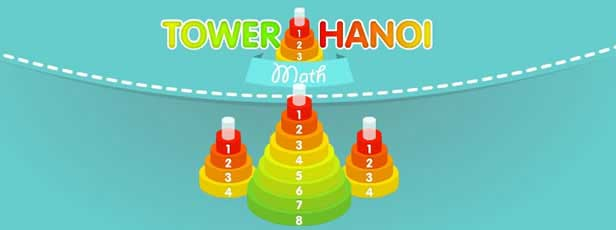 Tower of Hanoi ist ein klassisches Logik-Puzzle-Spiel, bei dem das Ziel ist, Fe