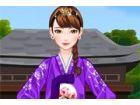 Mi liebt Sonne tragen Hanbok als ein modisches Statement und eine koreanische T