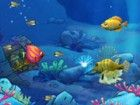 Ziehen Sie die Maus, um den Thunfisch auf kleinere Fische zu essen, um schnell