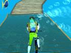 Unterwasser-Radfahren ist ein lustiges Spiel, bei dem Sie unter Wasser fahren m