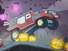 Fahre und rase modifizierte 4x4 Autos und Lkw in der Halloween Nacht auf rauem