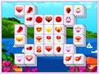 Klassisches Mahjong-Spiel mit Valentinstaggegenständen und aufregenden Lev