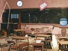 Stellen Sie sich vor, jemand ist in diesem Klassenzimmereingesperrt und S