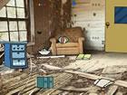 Ein Mädchen wurde im Holzzimmer eingesp...