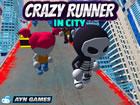 Verrückter Läufer in der Stadt ist ein unglaubliches endloses Laufspi