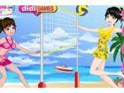 Das stilvolle, sportliche sind BFFs bereit zu zeigen ihren Beachvolleyball-Fäh