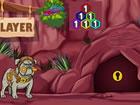 Vorombe Titan Bird ist in einer Höhle gefangen und kann dort nicht entkomm