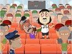 Schlagen Sie den Fußball-Fan und versuchen Sie, nicht von der Wache erwischt.