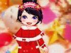 Mary ist sehr glücklich, weil ihre Mama ihr eine festliche Kostüm als Weihnac