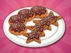 Machen viele Schokoladenweihnachtsplätzchen durch Kochen sie in Ihrem eigenen