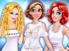 Elsa lud Ariel, Rapunzel und Cinderella zu einer weißen Party ein. Zieh i