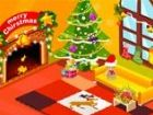 Ich habe unser Wohnzimmer für Weihnachten dekoriert und alle meine eingeladene