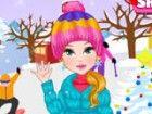 Der frische Schnee ist gefallen und Kira können nicht warten, zu gehen und zu