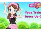 Die Yoga-Trainerin kommt den öffentlichen Park jeden Morgen und schult die Tei