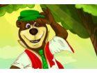 Yogi Bär, kommt einer der beliebtesten Comic-Figuren zur Stadt für seinen neu