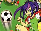 Yuki Rina sind junge talentierte Fußballspieler Sie zeigten unglaubliche