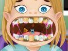 Unsere kleine Fanny von Zahnschmerzen leidet. Niemand ist in ihrem Haus, um sie