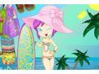 Anzieh Zelia am tropischen Strand sonnen Tage!