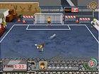 Kick den Fußball in den rechten Winkel mit der richtigen Kraft, ein Ziel zu ma